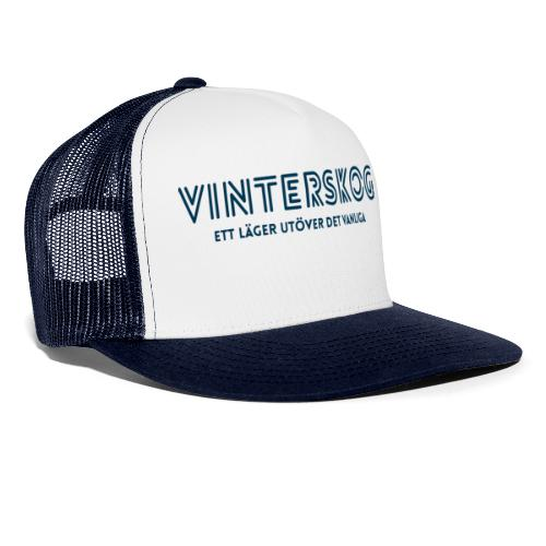 Vinterskog med blått tryck - Trucker Cap
