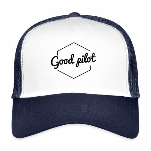 GOOD PILOT (noir) - Trucker Cap
