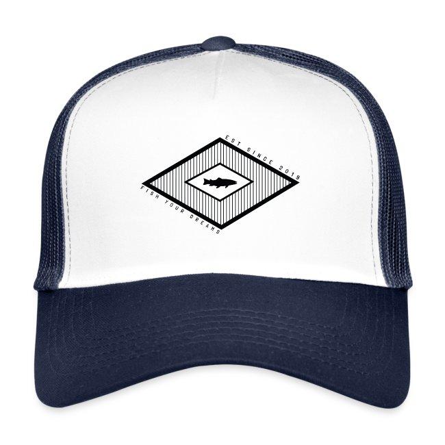 Fish your dreams diamond trucker cap