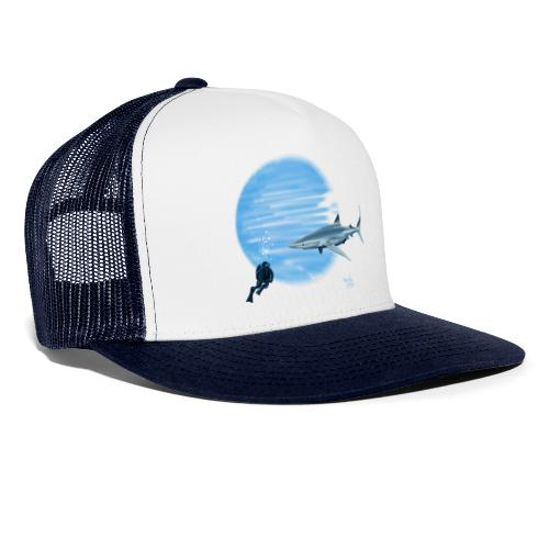 Grand requin et plongeur - Trucker Cap