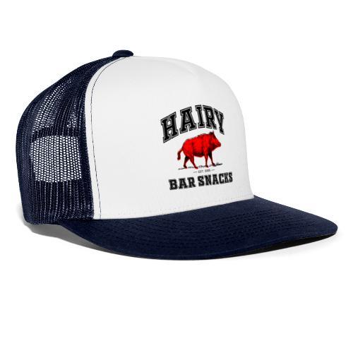 Hairy Bar Snacks College Logo Design - Trucker Cap