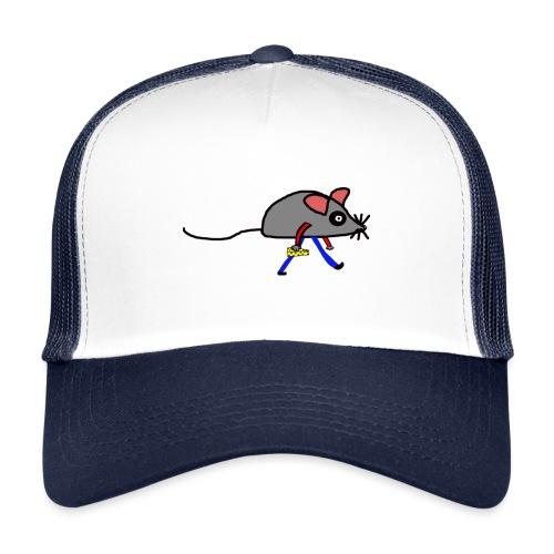 Maus mit Käse Lustiges Motiv - Trucker Cap