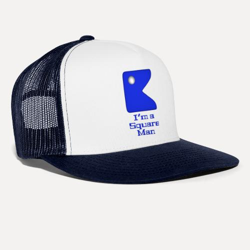 Square man blue - Trucker Cap
