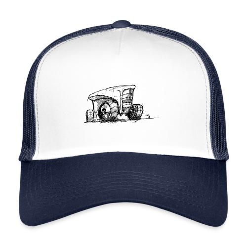 Futuristic design tractor - Trucker Cap