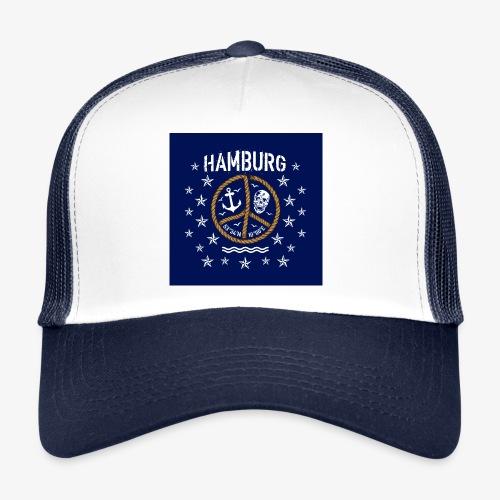 07 Hamburg Totenkopf Koordinaten Peace Anker Maske - Trucker Cap