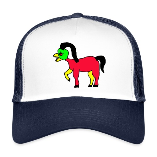 Vogel Pferd Verrückt - Trucker Cap