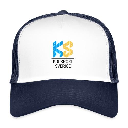 Kodsport kvadratisk logotyp - svart text - Trucker Cap