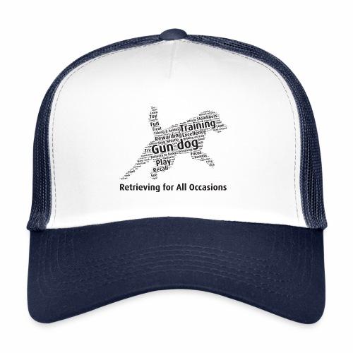 Retrieving for All Occasions wordcloud svart - Trucker Cap