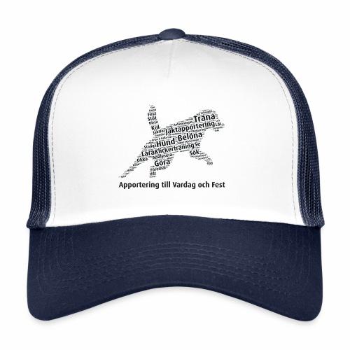 Apportering till vardag och fest wordcloud svart - Trucker Cap