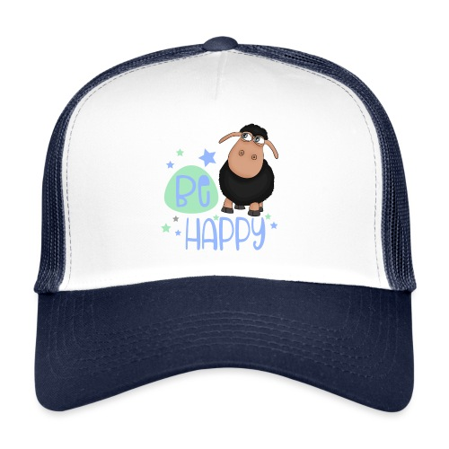 Black sheep - Be happy sheep - lucky charm - Trucker Cap