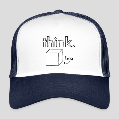 Think Outside The Box Illustration - Trucker Cap