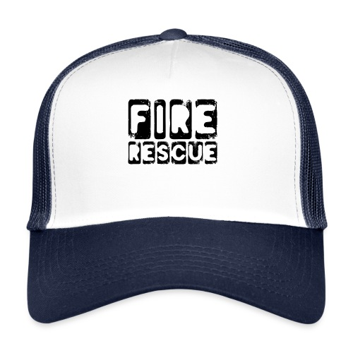 Fire Rescue Feuerrettung Feuerwehr Retter - Trucker Cap