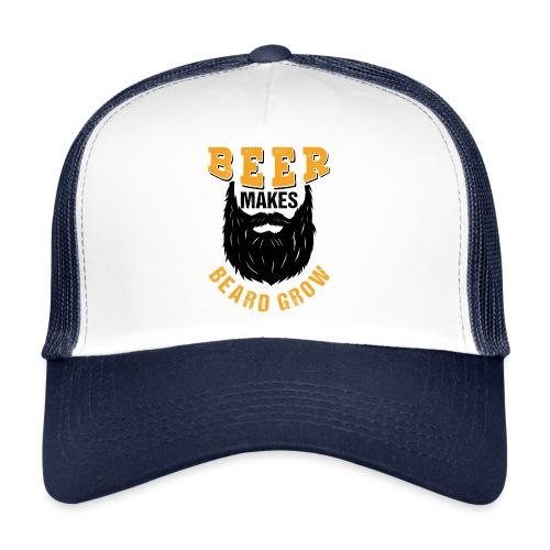 Beer Makes Beard Grow Funny Gift - Trucker Cap