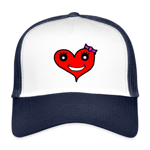 Herz Smiley Schlaufe - Trucker Cap