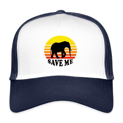 Elefant SAVE ME Schattenriss Sonne - Trucker Cap