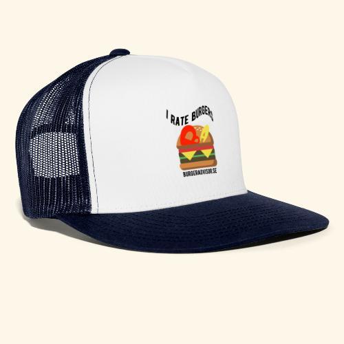 I Rate Burgers logo dark - Trucker Cap