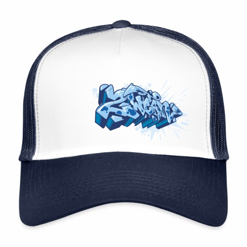 √ Dae 2Wear graffiti style ver02 Blue edt - Trucker Cap