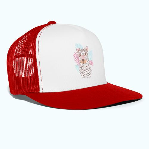 80s Pastel Color Cat - Trucker Cap