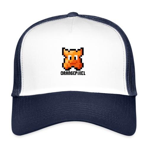 OrangePixel Logo with Black Text - Trucker Cap