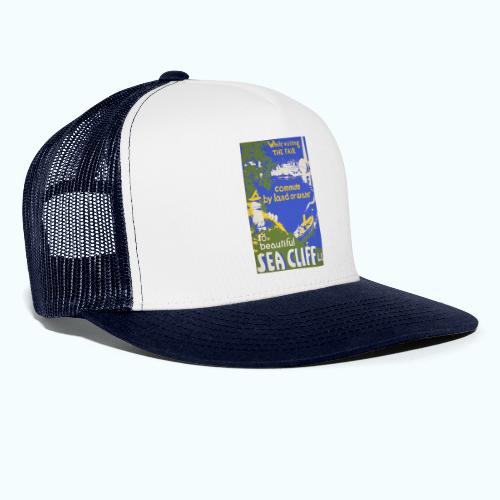 Lake travel vintage poster - Trucker Cap