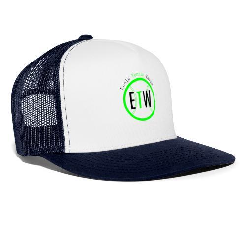 logo rond tennis vert - Trucker Cap