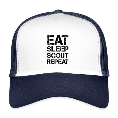 EAT SLEEP SCOUT REPEAT Kreide - Farbe frei wählbar - Trucker Cap