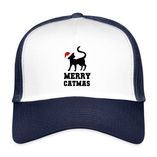 Merry Catmas - Silhouette - Trucker Cap