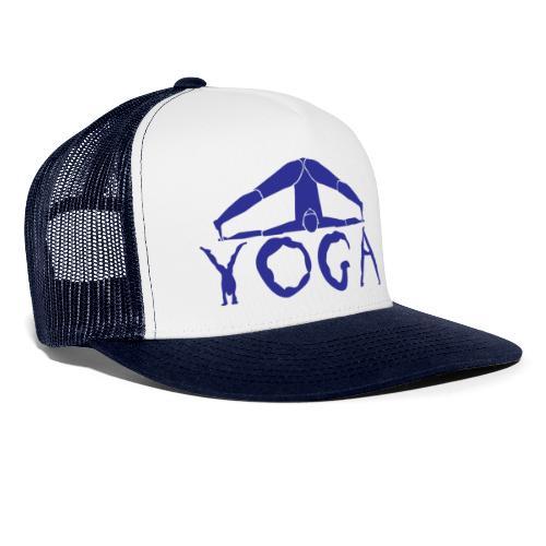 yoga yogi blu namaste pace amore hippie sport art - Trucker Cap