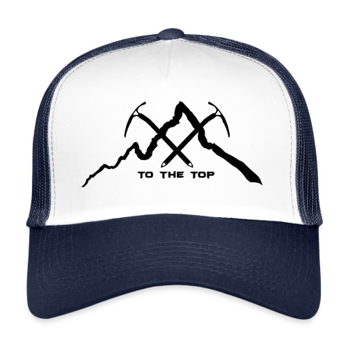 To The Top Black - Trucker Cap