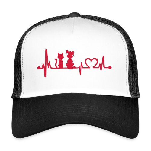 Vorschau: dog cat heartbeat - Trucker Cap