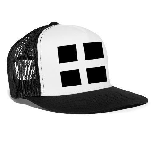 Swedish/Danish Tactical flag Subdued Black/White - Trucker Cap