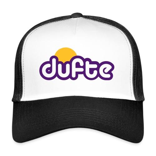 dufte Tucker Cap schwarz / lila - Trucker Cap
