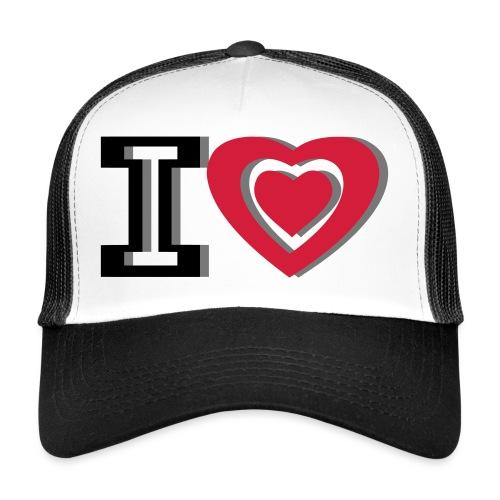 I LOVE I HEART - Trucker Cap