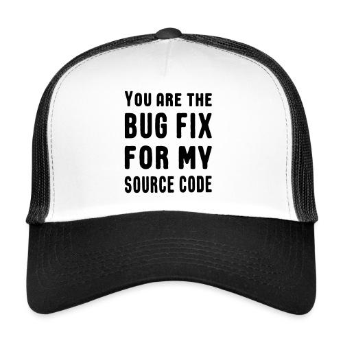 Programmierer Beziehung Liebe Source Code Spruch - Trucker Cap