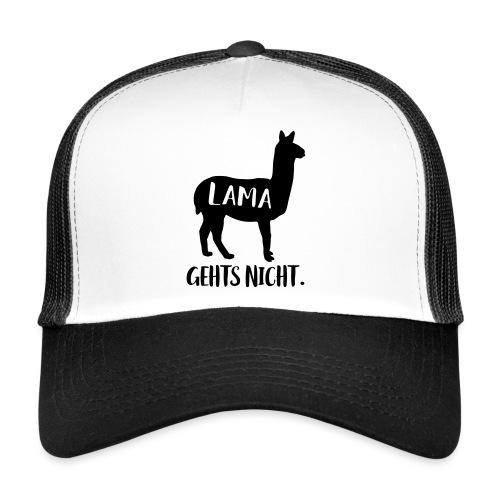 Lustiger Langsam Sport Lama Tier Spruch - Trucker Cap