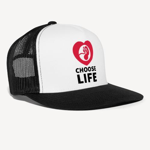 CHOOSE LIFE CAP - Trucker Cap