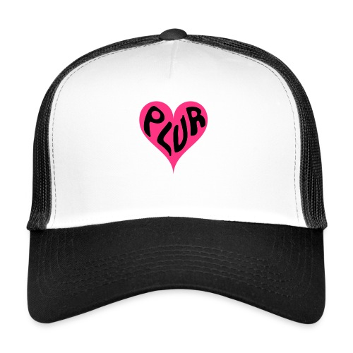 PLUR - Peace Love Unity and Respect love heart - Trucker Cap