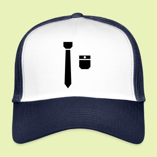 Tie and pocket ( smoking, tuxedo ) - Trucker Cap