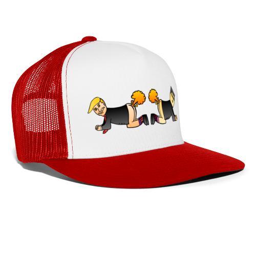 Trump Kim Logo - Trucker Cap