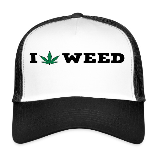 I LOVE WEED - Trucker Cap