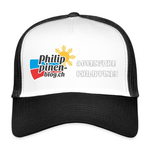 Philippinen-Blog Logo english schwarz/weiss - Trucker Cap