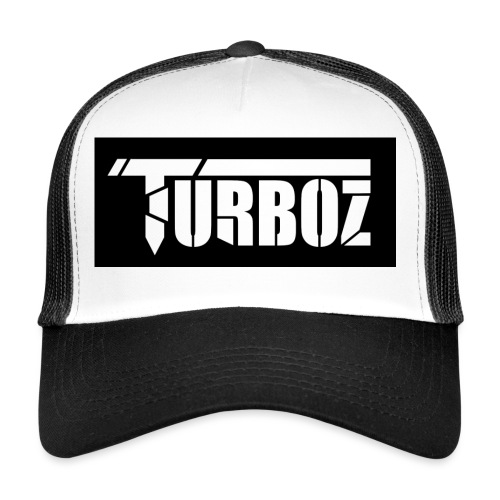 Black Turboz Background - Trucker Cap