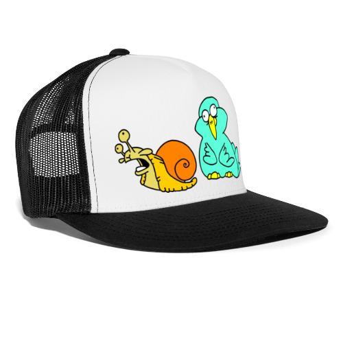 Schnecke und Vogel Nr 3 von dodocomics - Trucker Cap