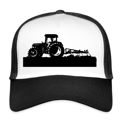 Tractor with cultivator - Trucker Cap