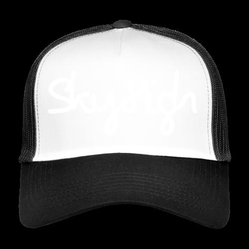 SkyHigh - Men's Premium T-Shirt - White Lettering - Trucker Cap