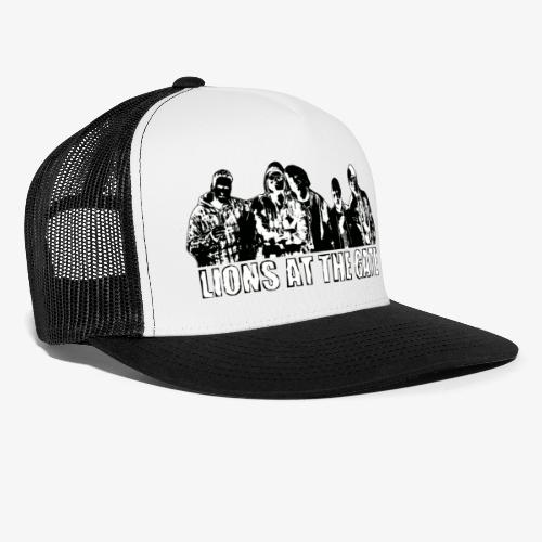 LIONS AT THE GATE BAND (BLACK) - Trucker Cap