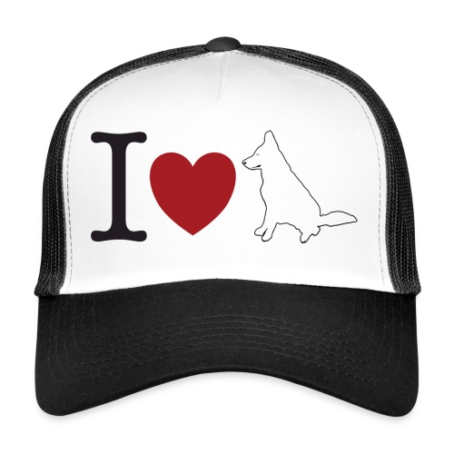 I LOVE White Dog - Trucker Cap