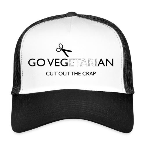 Go Vegan cut out the crap - Trucker Cap
