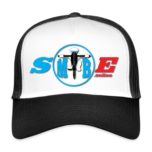 SMTBE biker logo DECAL red big - Trucker Cap