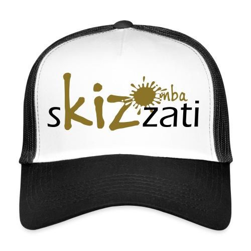 Beanie in jersey con logo sKizzati Kizomba - Verde - Trucker Cap